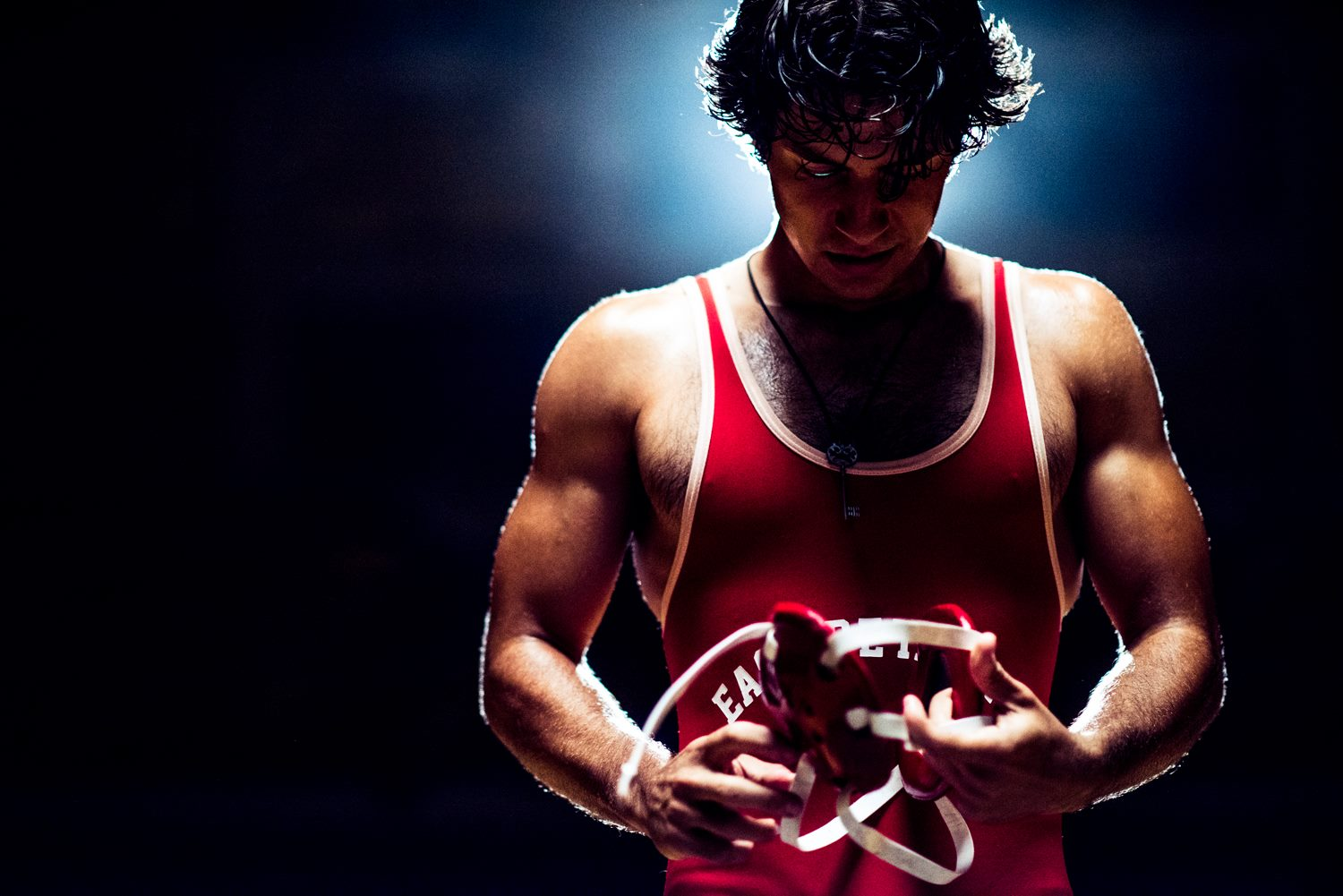 "A still from ""American Wrestler"""