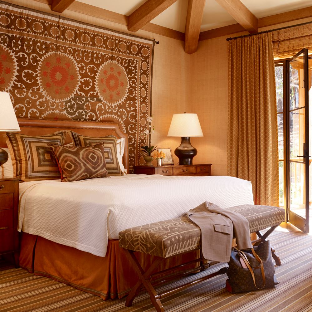 A California bedroom designed by Suzanne Tucker