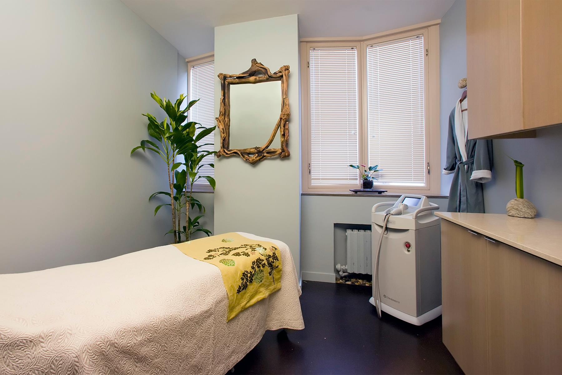 A treatment room at Mitchell's spa