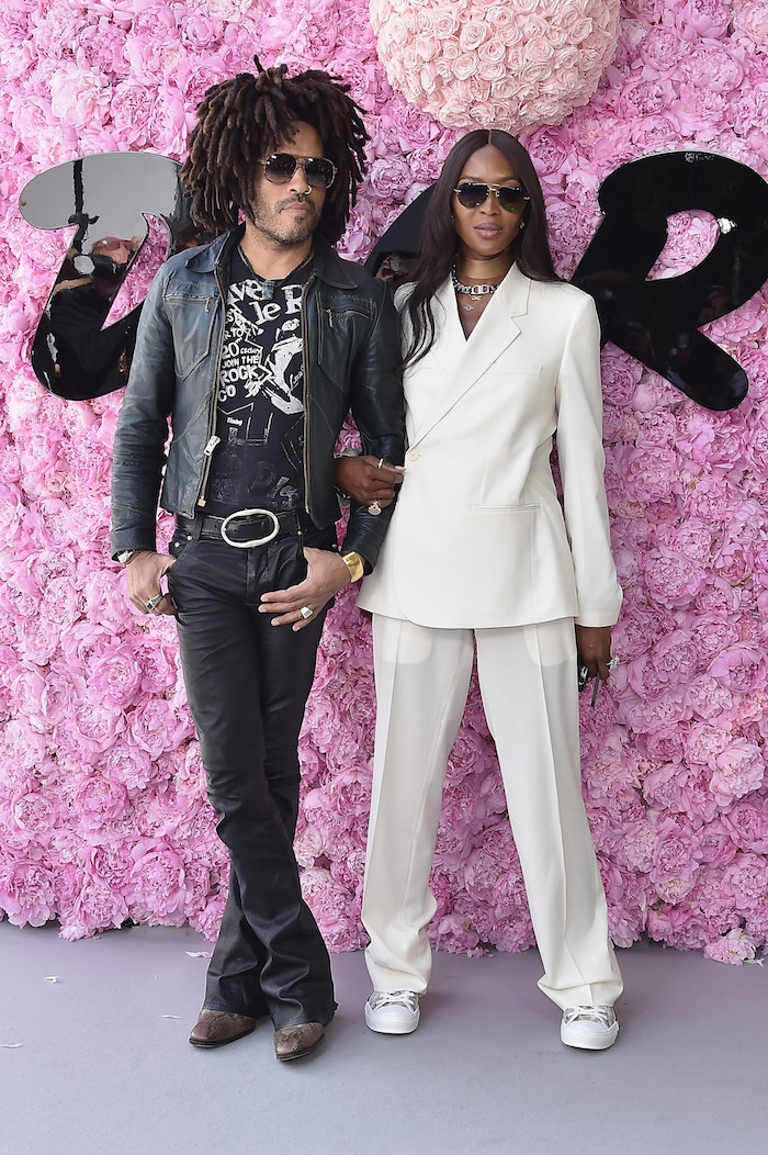 Lenny Kravitz and Naomi Campbell