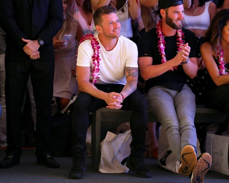 Ryan Phillippe attends the front row of MIKOH Resort 2019 Runway Show at The Paraiso Tent