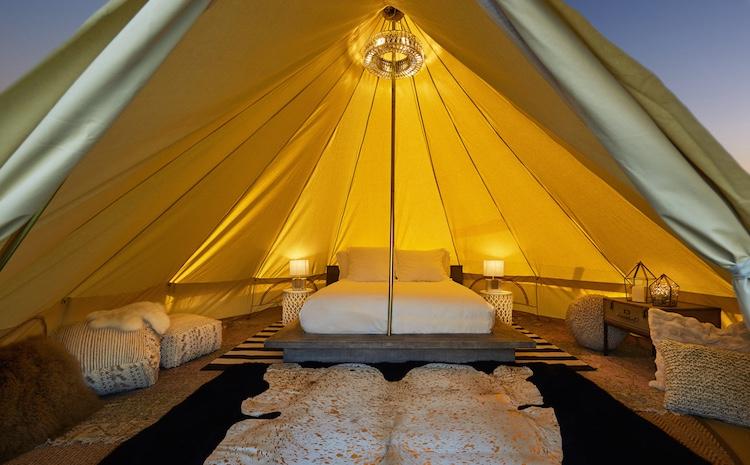 Beverly Wilshire Veranda Suite Glamping Tent Interior