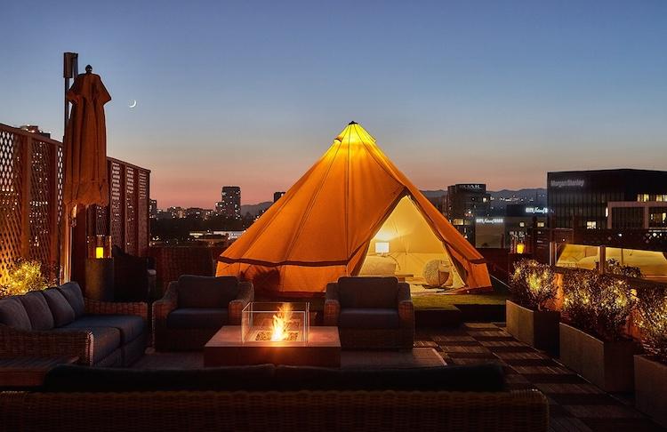 Beverly Wilshire Veranda Suite Glamping Tent