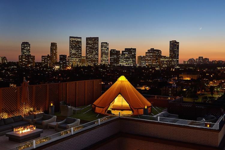 Beverly Wilshire Veranda Suite Glamping Terrace
