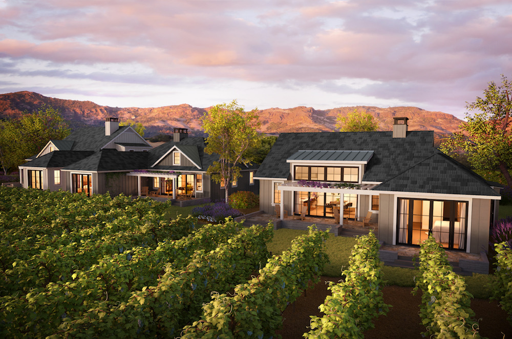 A rendering of the Four Seasons homes and vineyards in Napa