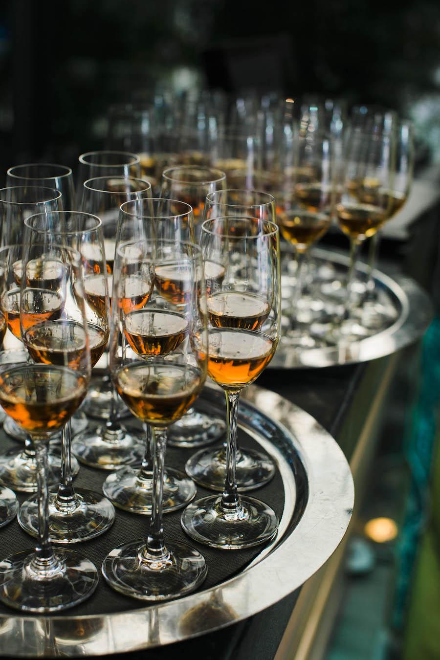 Maestro Dobel's custom Riedel sipping tequila glasses