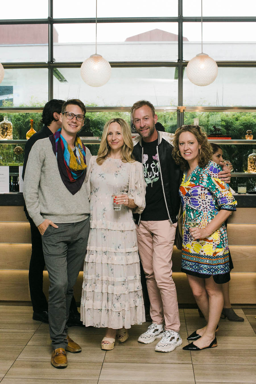 Former San Francisco Ballet dancer, Luke Willis, The Supper Club's founder Tamsin Lonsdale, Jay Jeffers' creative director Michael Purdy, and friend