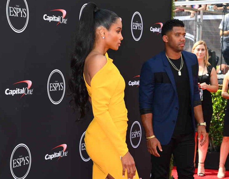 Ciara and Russell Wilson o