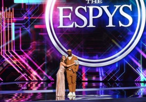 Alison Brie and Von Miller during The ESPYS Presented by Capital One
