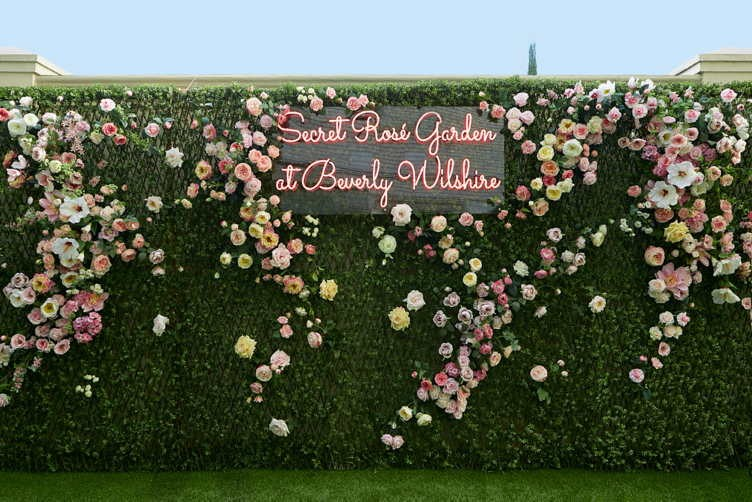A Secret Rosé Garden Debuts At The Beverly Wilshire