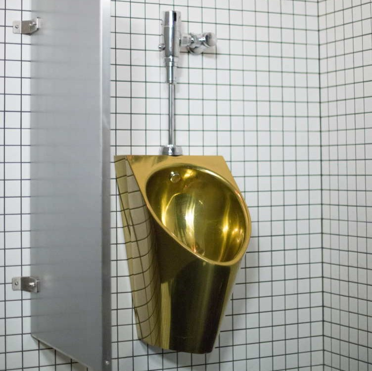 Golden urinal