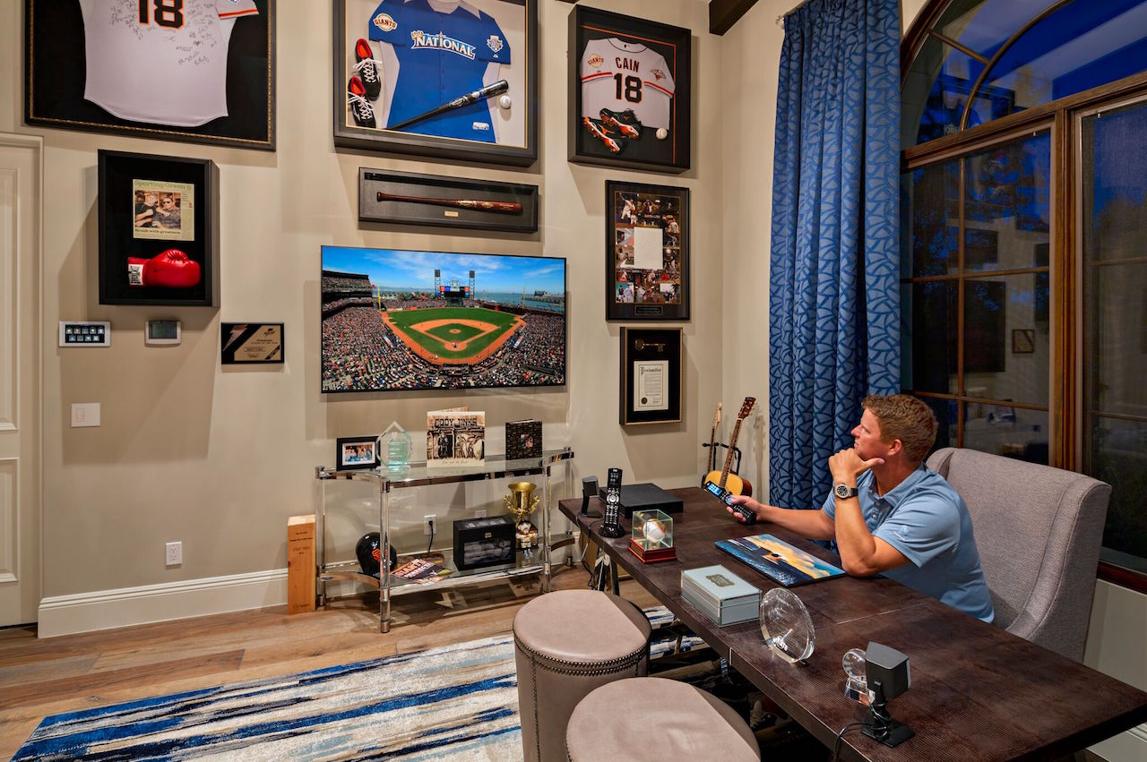 Cain in his office