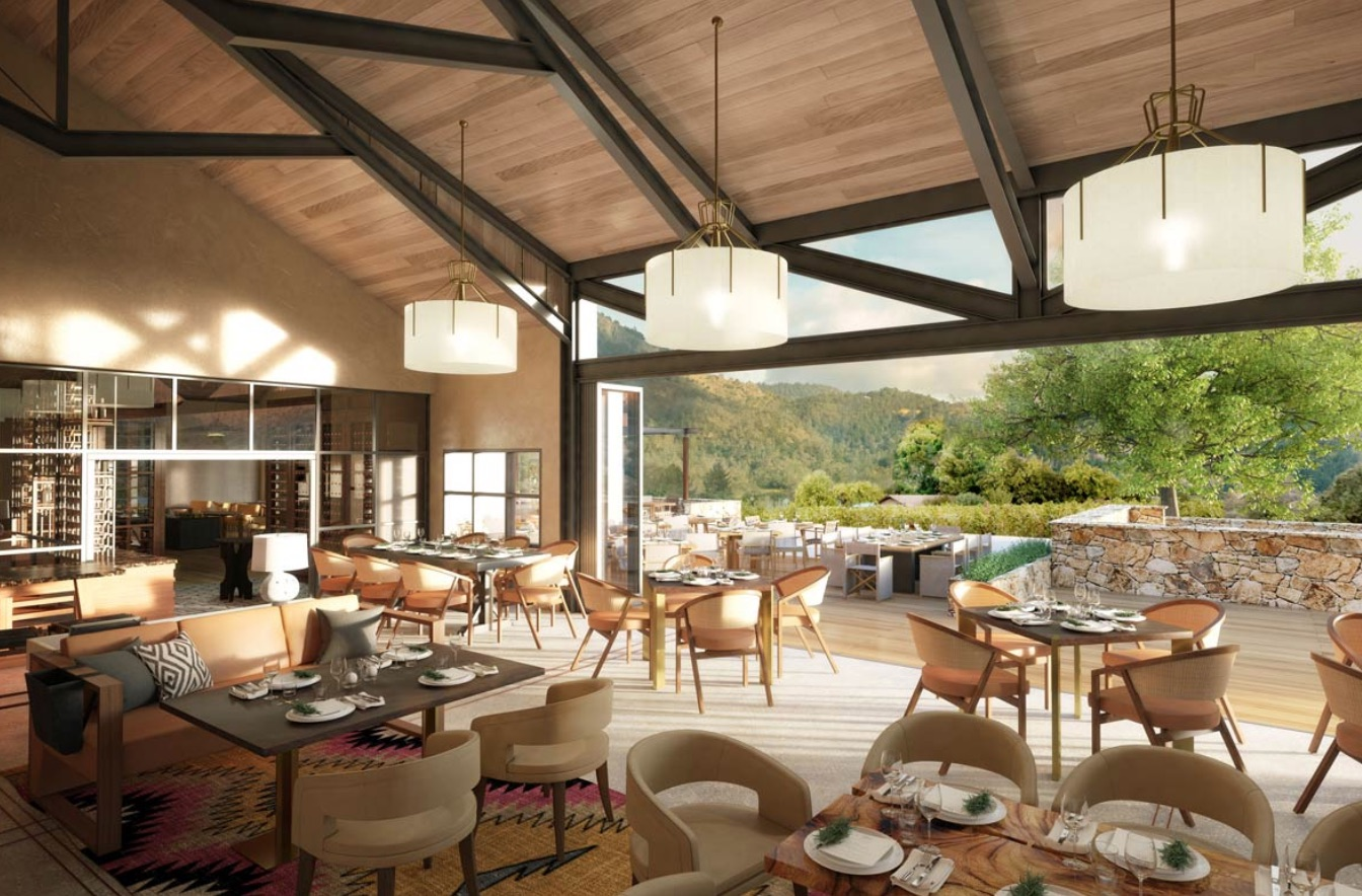 A rendering of the Four Season Napa Valley's restaurant