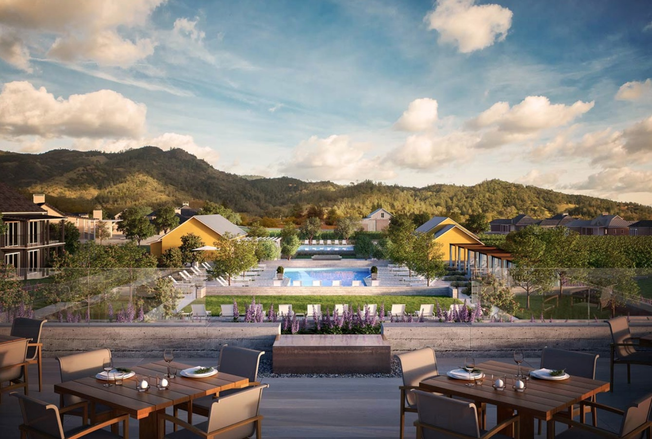 A view of the resort