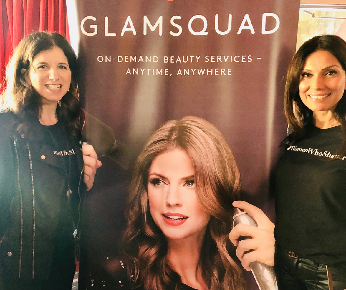 Amy Shecter and Shelly Kapoor Collins at the Glamsquad launch last week