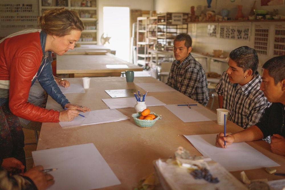 Students in the Nimbus Arts program