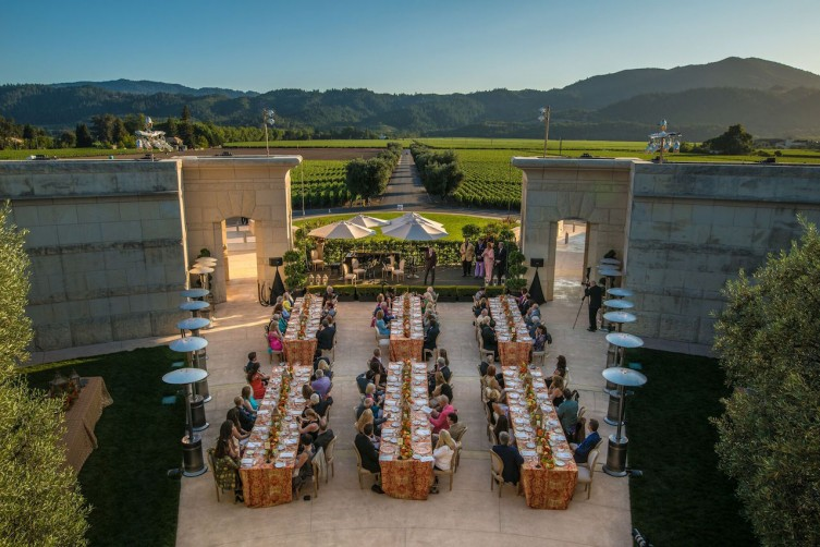 A festival event last year at Opus One Winery
