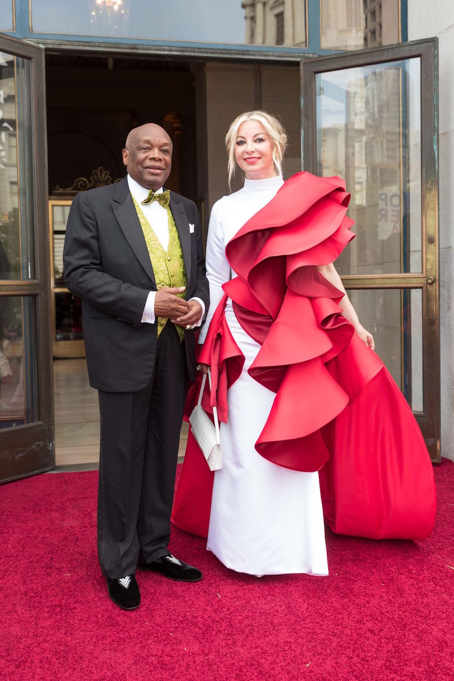 Former mayor Willie Brown and Haute Living's fashion editor-at-large, Sonya Molodetskaya at last year's opening