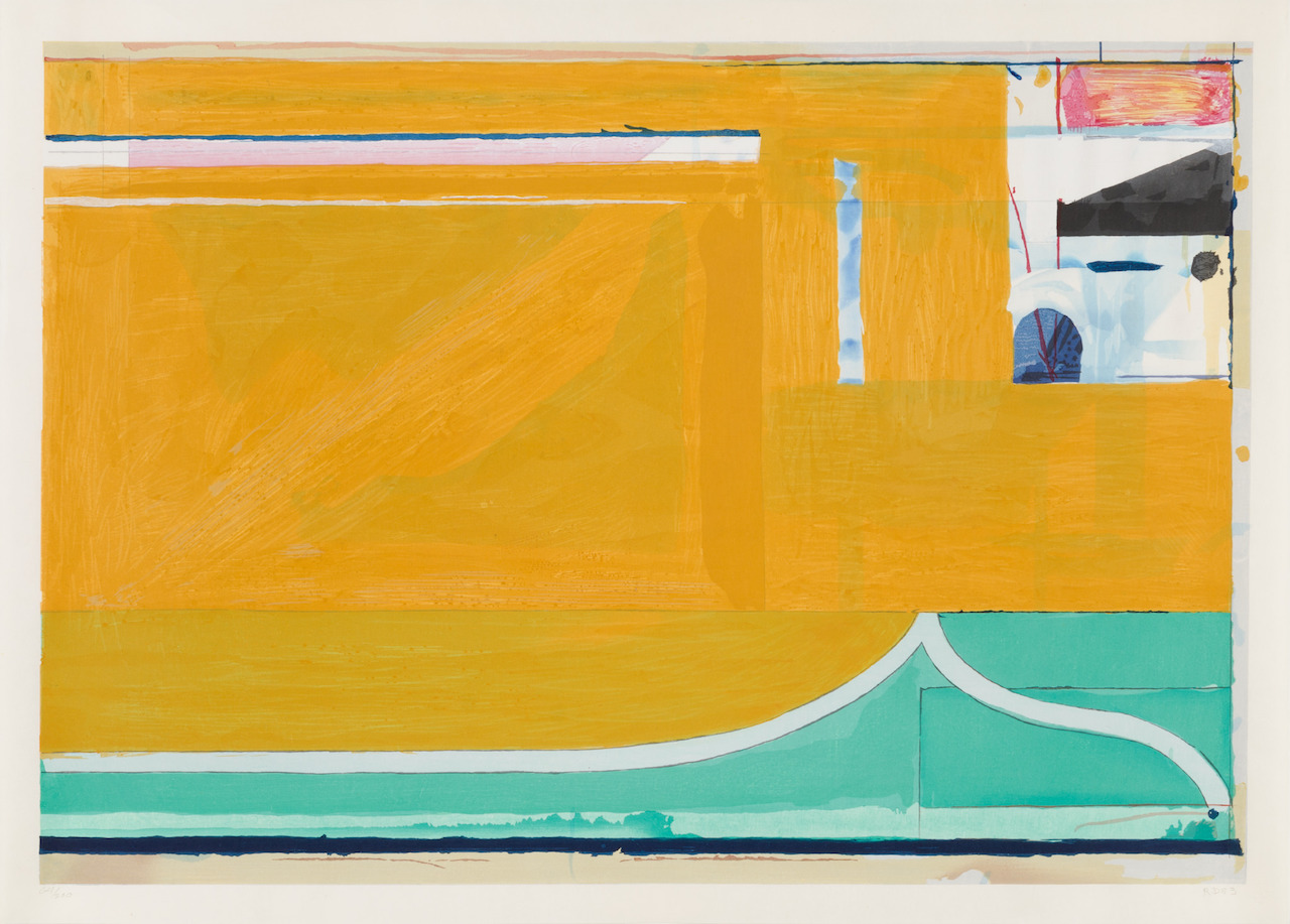 Ochre by Richard Diebenkorn, available at the gallery