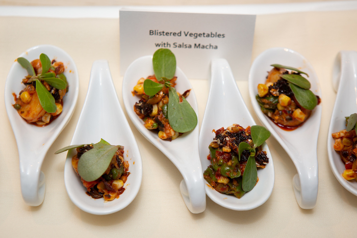 Blistered Vegetables with Salsa Macha at the kick-off event for the James Beard Foundation's Taste America's 10-city national event.