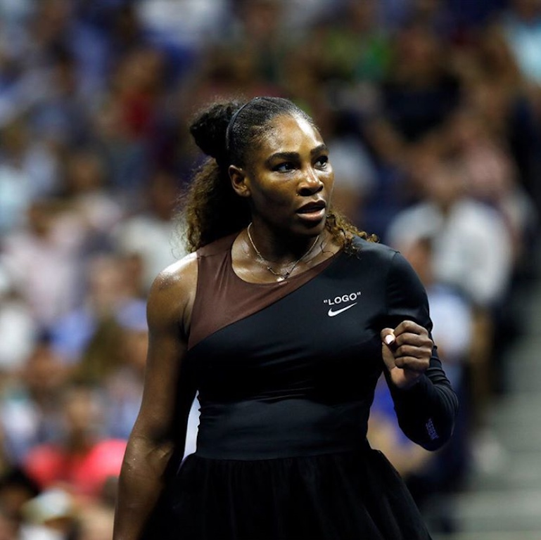 533827a25fae Serena Williams Dazzles At US Open Opening Night Wearing Nike X Off-White  Collaboration Designed By Virgil Abloh