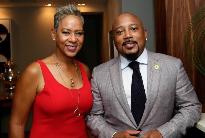 Katrina Adams, USTA President, and Daymond John of Shark Tank and CEO of FUBU
