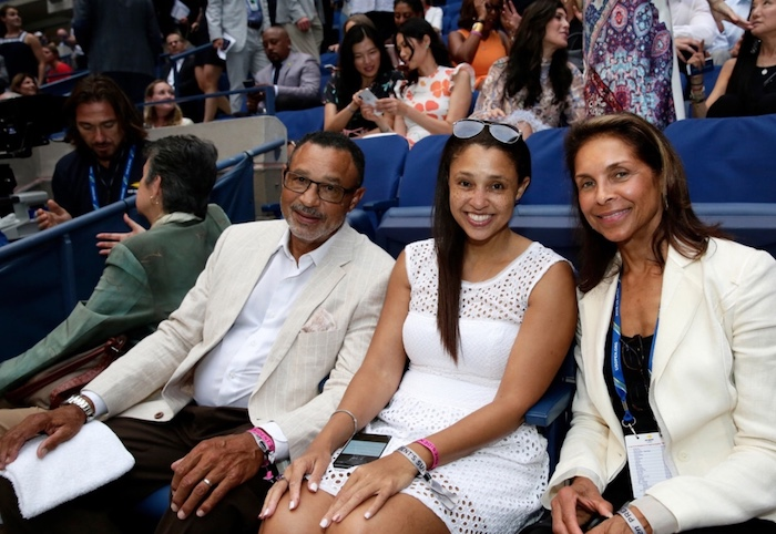 Mark Ashe and guest with Jeanne Ashe, widow of tennis great Arthur Ashe