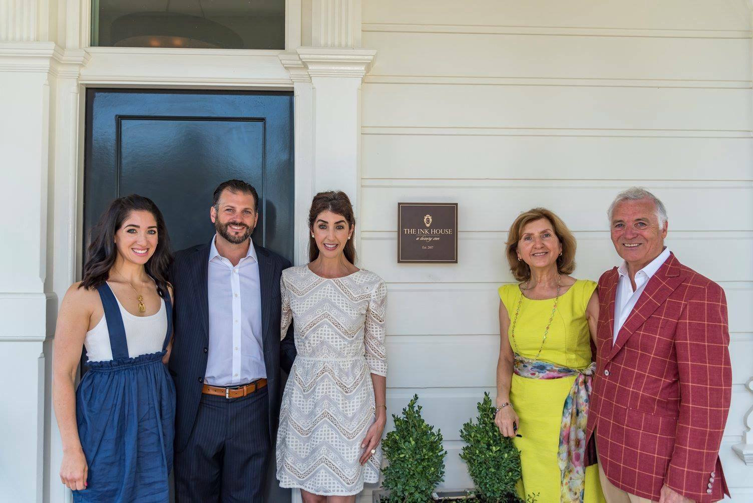 Antonio Castellucci, left, and his family, from left to right: Angela Longyear, Marco Castellucci, Maria Castellucci, and Rita Castellucci,