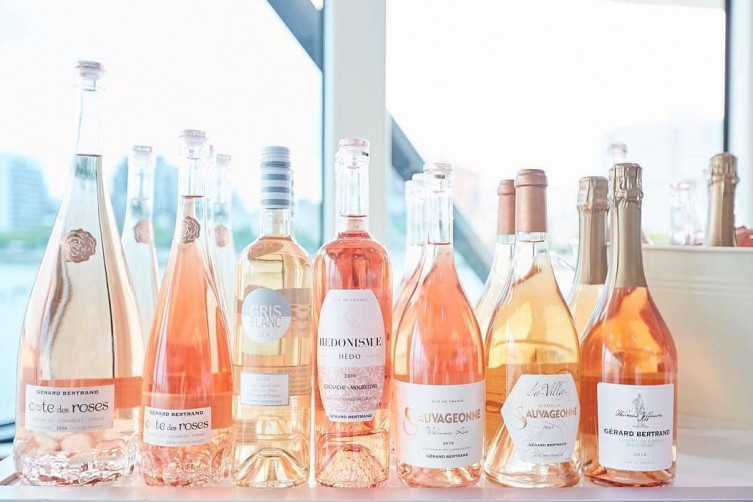 Gerard Bertrand's different labels of rosé