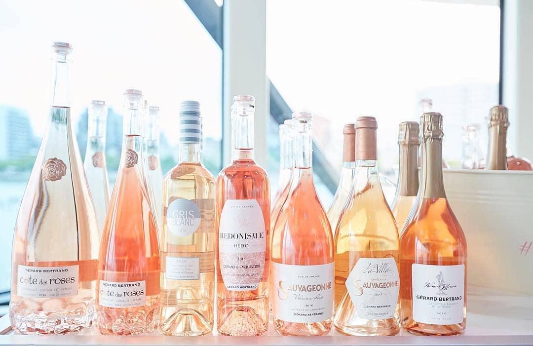 Gerard Bertrand's different labels of rosé