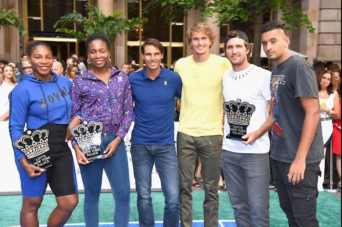 Lotte New York Palace Hosts Rafael Nadal Venus Serena Williams