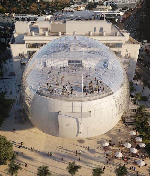 Academy Museum Rendering Sphere Building