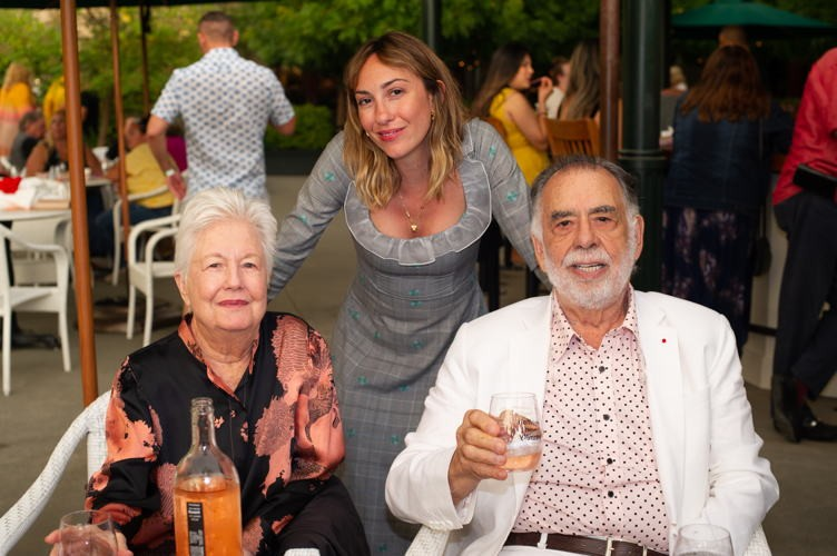 Gia with Francis Ford and Eleanor Coppola