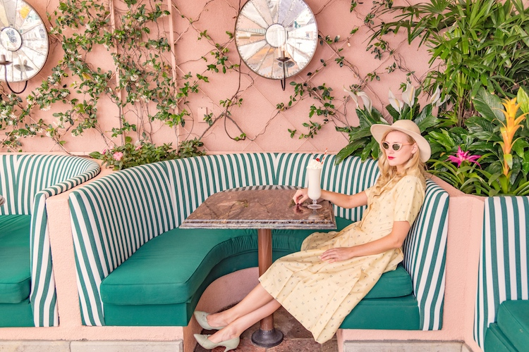Girl at the Cabana Cafe, Beverly Hills Hotel
