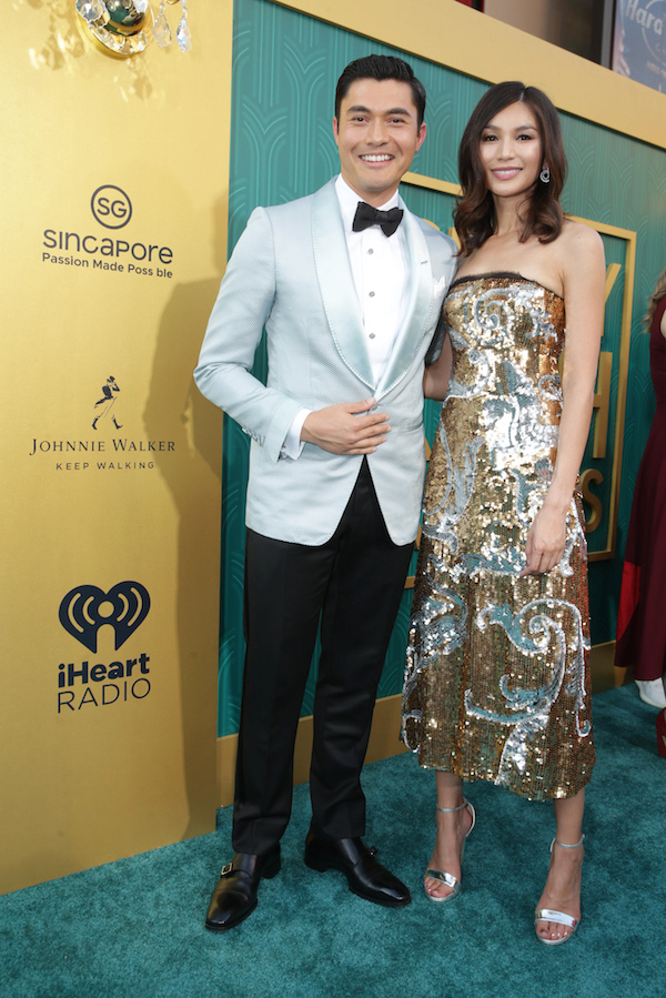 Henry Golding and Gemma Chan at the Crazy Rich Asians Premiere Presented by Johnnie Walker & Singapore in Hollywood, California