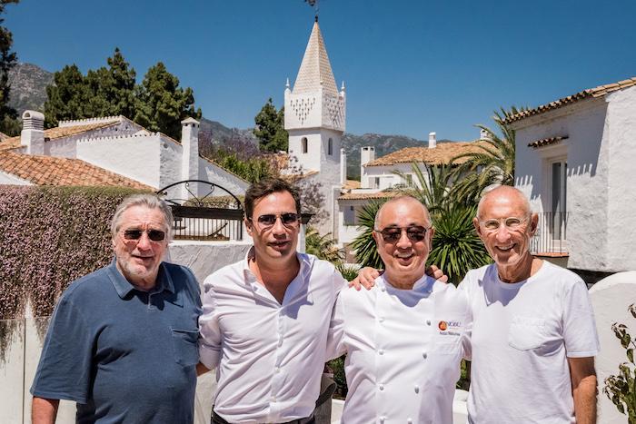 Robert De Niro, Daniel Shamoon, Chef Nobu, and Meir Teper
