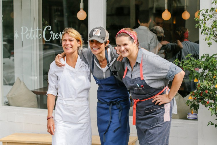 Chefs Karen Keygnaert, Dominique Crenn, and Rebecca Wilcomb