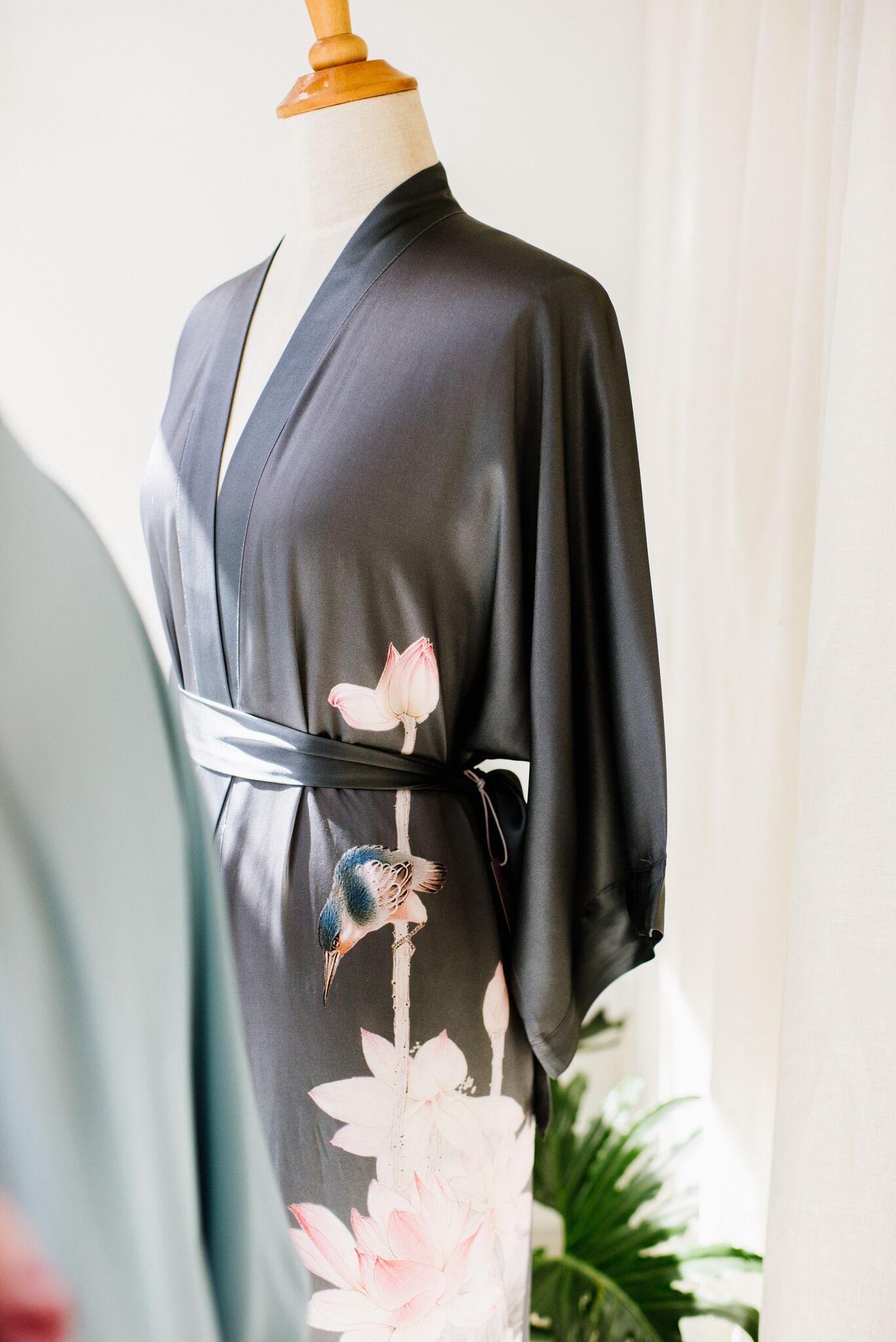 A hand-painted kimono