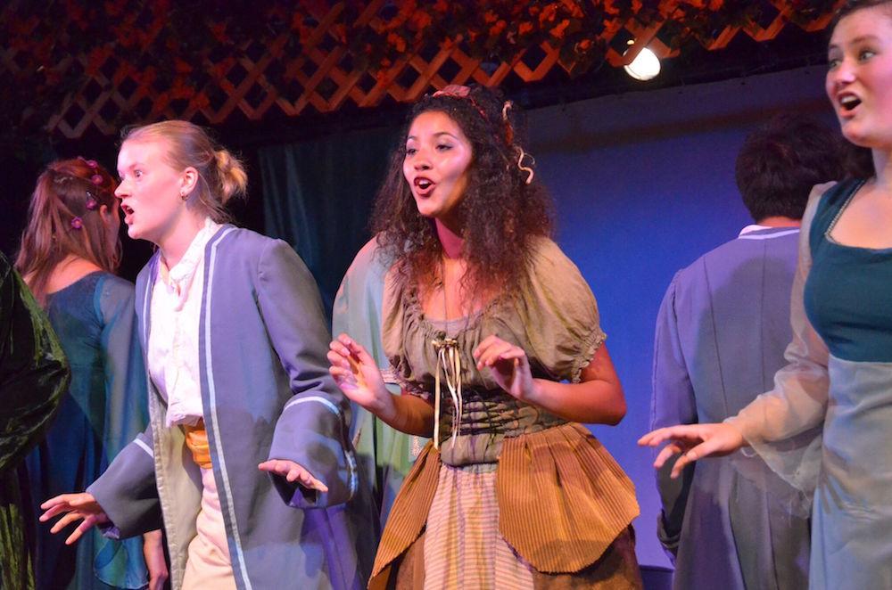 Teens sing in an opera outreach program