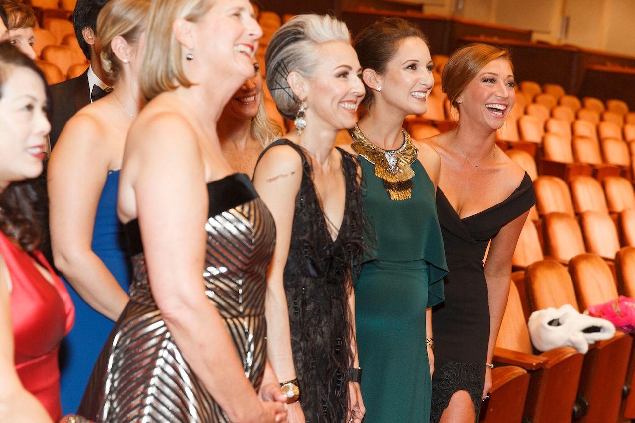 Prisca Geeslin,Sako Fisher, Meredith Tan,and Whitney Hudak at the 2017 gala