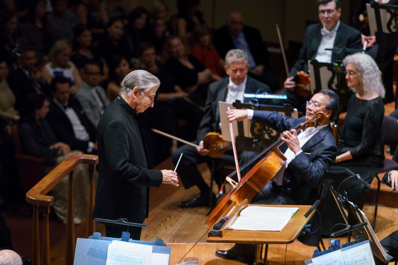 Michael Tilson Thomas and Yo-Yo Ma perform at the 2017 gala