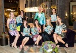 SAN FRANCISCO, CA - September 20 - Adrienne Broadbear, Vita Hemphill, Jen Sharp, Gabriella Marmalejo, Jay Jeffers, Courtney Noris, Jessica McQueen and Becca Ruhe attend BE BOLD by Jay Jeffers Book Launch Party on September 20th 2018 at Coup D'Etat in San Francisco, CA (Photo - Drew Altizer)