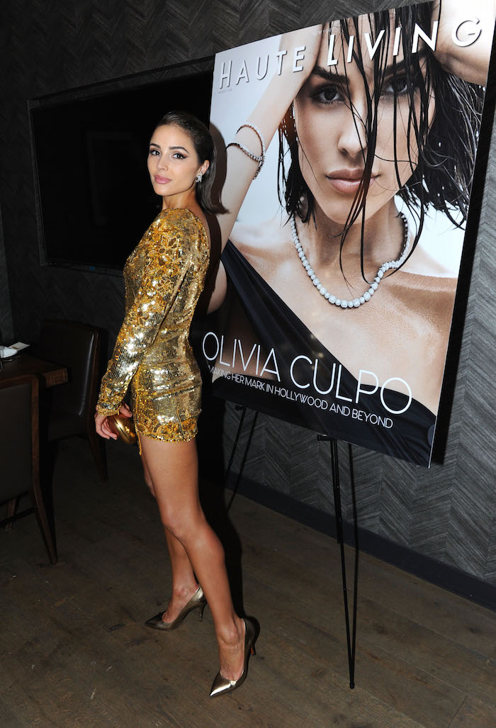 Olivia Culpo attends the Haute Living and Real Is A Diamond celebration of Olivia Culpo's New York Cover during New York Fashion Week at Scarpetta, New York on September 6, 2018 in New York City.