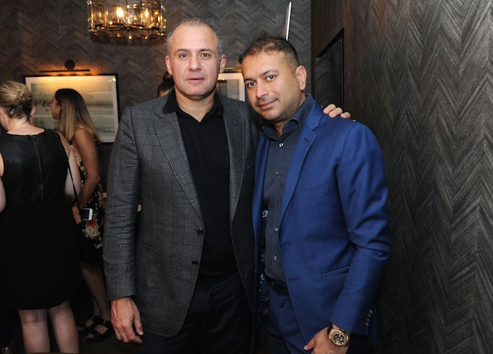 Ronn Torossian and Kamal Hotchandani attend the Haute Living and Real Is A Diamond celebration of Olivia Culpo's New York Cover during New York Fashion Week at Scarpetta, New York on September 6, 2018 in New York City.