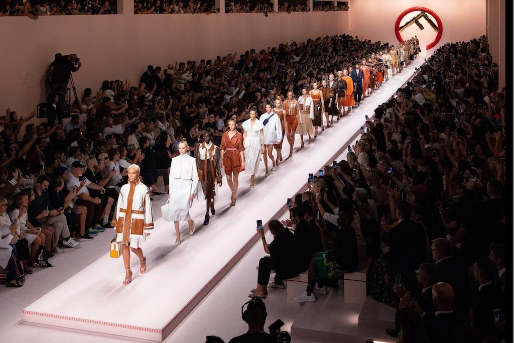 Fashion icons Silvia Venturini Fendi and Karl Lagerfeld showed their FENDI  Spring Summer 2019 collection at Milan Fashion Week 34d83b0462188