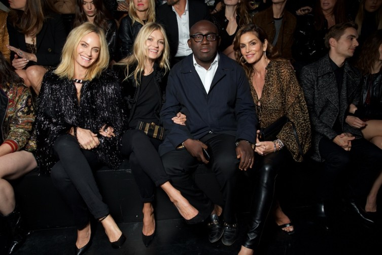 Amber Valetta, Kate Moss, Edward Enninful and Cindy Crawford