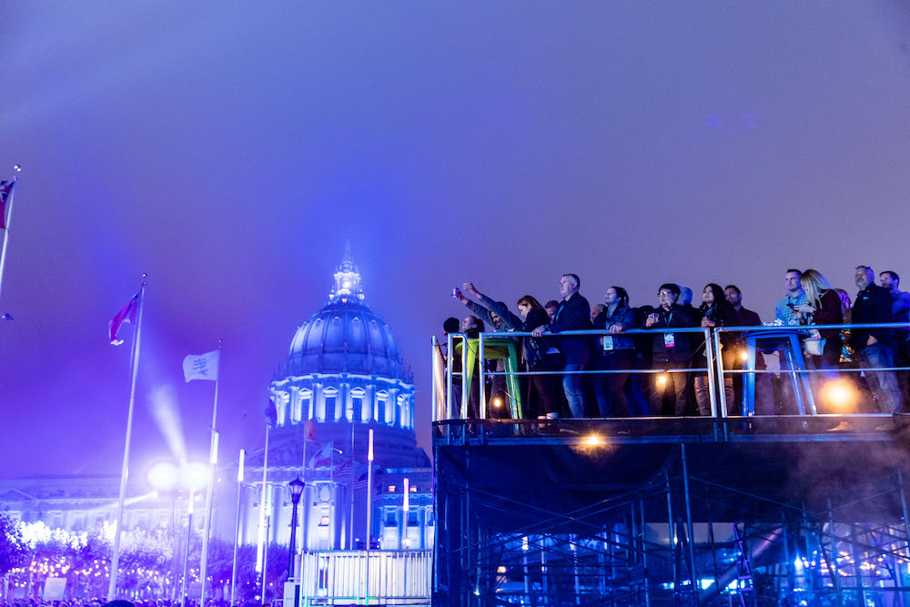 Concert goers brave the cold