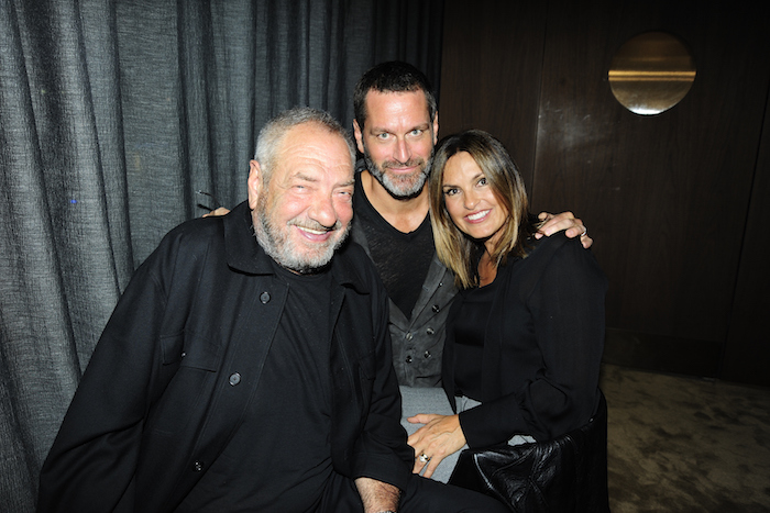 Dick Wolf, Peter Hermann and Mariska Hargitay attend NBC And The Cinema Society Host A Party For The Casts Of NBC's 2018-2019 Season at The Four Seasons Restaurant on September 20, 2018 in New York.