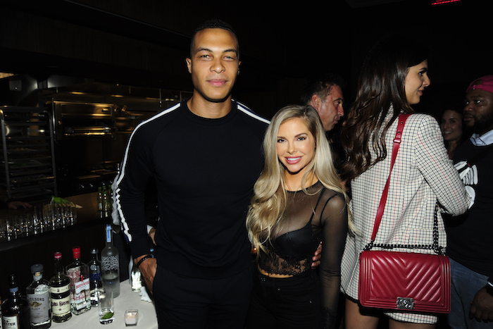 Dale Moss and Kayla Collins attend NBC And The Cinema Society Host A Party For The Casts Of NBC's 2018-2019 Season at The Four Seasons Restaurant on September 20, 2018 in New York.