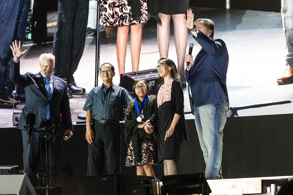 Mark Laret, Robert Cunanan, Myla Cunanan, Leyna Cunanan and Mike Anderson
